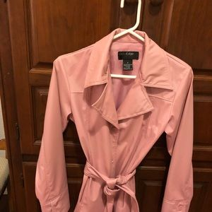 Rose color rain jacket for these rainy days